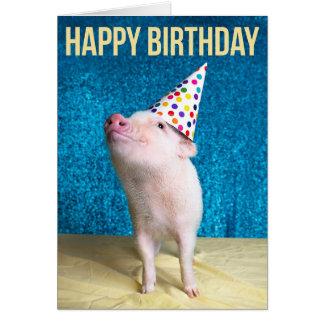 För gris födelsedagkort ut hälsningskort