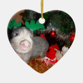 För grishjärta för söt jul mini- prydnad