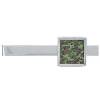 För gröntbrunt för silver modern Camo kamouflage Slipsnål Med Silverfinish