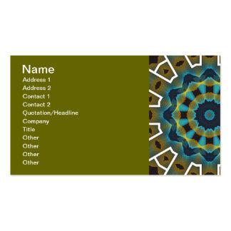 för GRÖNTFRACTAL för DEPPIGHET gfa1162 GEOMETRISK  Set Av Standard Visitkort