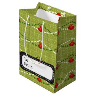 För gröntprydnadar för jul rött mönster