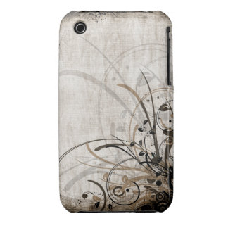 För Grungedesign för vintage blom- fodral för iPhone 3 Case-Mate Case
