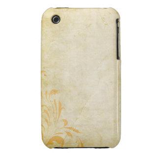 För Grungedesign för vintage blom- fodral för iPhone 3 Fodral
