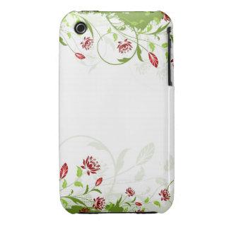 För Grungedesign för vintage blom- fodral för blac iPhone 3 Case-Mate Fodral