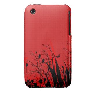 För Grungedesign för vintage blom- fodral för blac Case-Mate iPhone 3 Fodral