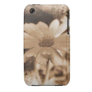 För Grungedesign för vintage blom- fodral för blac Case-Mate iPhone 3 Cases