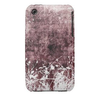 För Grungedesign för vintage blom- fodral för blac iPhone 3 Cover