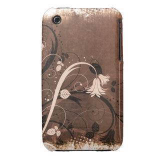 För Grungedesign för vintage blom- fodral för Case-Mate iPhone 3 Case