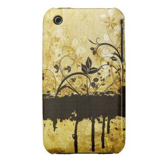 För Grungedesign för vintage blom- fodral för Case-Mate iPhone 3 Fodral