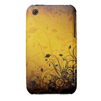 För Grungedesign för vintage blom- fodral för Case-Mate iPhone 3 Fodraler