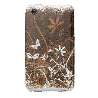 För Grungedesign för vintage blom- fodral för Case-Mate iPhone 3 Skydd