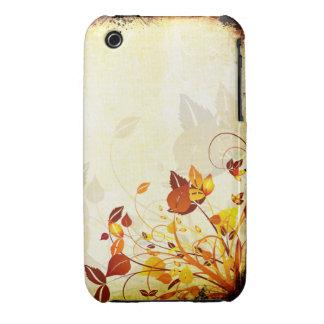 För Grungedesign för vintage blom- fodral för iPhone 3 Case