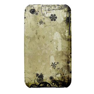 För Grungedesign för vintage blom- fodral för iPhone 3 Case-Mate Cases