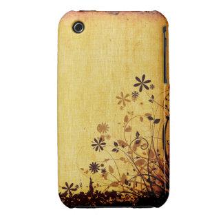 För Grungedesign för vintage blom- fodral för iPhone 3 Case-Mate Skydd