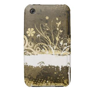 För Grungedesign för vintage blom- fodral för iPhone 3 Cases