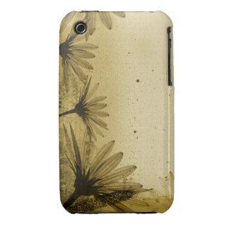 För Grungedesign för vintage blom- fodral för iPhone 3 Cover