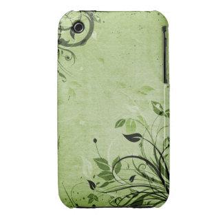 För Grungedesign för vintage blom- fodral för iPhone 3 Fodraler
