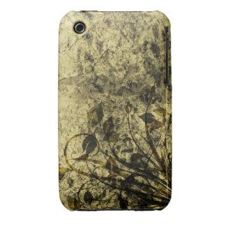 För Grungedesign för vintage blom- fodral för iPhone 3 Skydd
