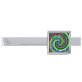 För Grungespiral för silver modern färg för Tie Slipsnål Med Silverfinish