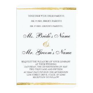 För guld & formell bröllopinbjudan för svart 12,7 x 17,8 cm inbjudningskort