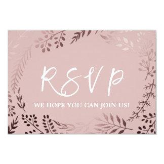 För guld- och rosasång för elegant rosa OSA för 8,9 X 12,7 Cm Inbjudningskort