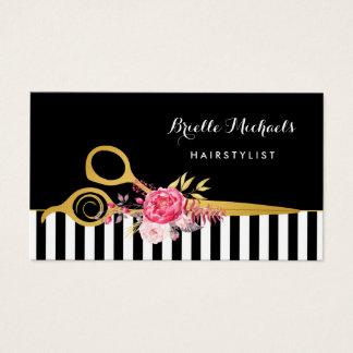 För guld- salong för hår saxrandar för Faux rosa Visitkort