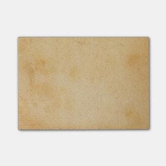 För guldbrunt för vintage Retro Parchment för Post-it