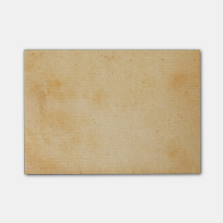 För guldbrunt för vintage Retro Parchment för Post-it Block
