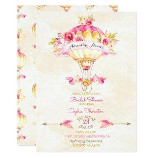 För guldgult för luftballong rosa ro för pilar 12,7 x 17,8 cm inbjudningskort