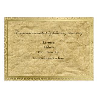 För guldklippning för vintage pappra kort för set av breda visitkort