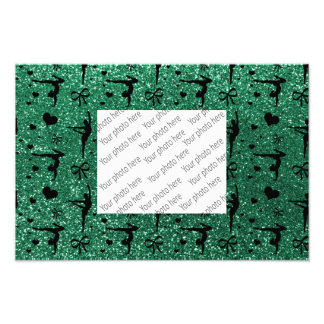 För gymnastikglitter för Mint grönt mönster Fototryck