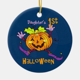För Halloween för dotter 1st pumpa lycklig Julgransdekorationer