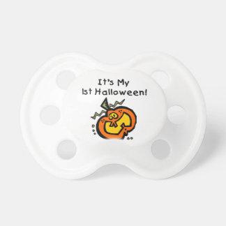 För Halloween för pumpababy 1st nappar baby