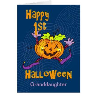 För Halloween för sondotter 1st pumpa lycklig Hälsningskort