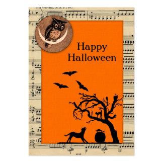För Halloween för vintage Themed märkre gåva Set Av Breda Visitkort