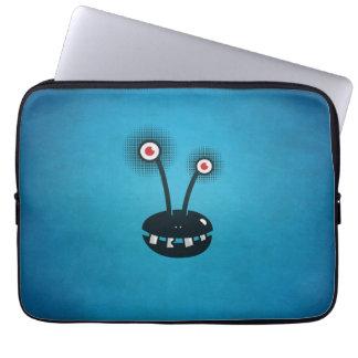 För halvtontecknad för blått rolig främling laptop fodral