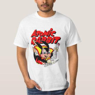 För hårigdjur för atom- kanin rolig superhero t shirt