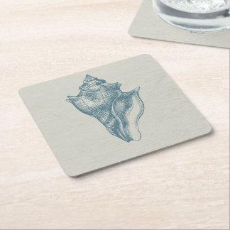 För havblått för vintage djup snäcka underlägg papper kvadrat