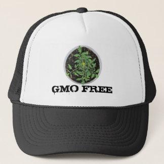 För Heirloomtomat för GMO FRI fredstecken för växt Truckerkeps