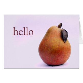 För hejer Pear där Hälsningskort