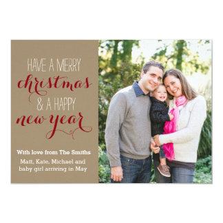 för helgdagfoto för 5 x 7 slugt jul kort 12,7 x 17,8 cm inbjudningskort