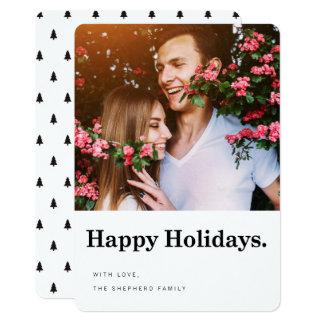 För helgdagfoto för glad helg modernt kort 12,7 x 17,8 cm inbjudningskort