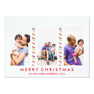 För helgdagfoto för godis coola görat randig kort kort för inbjudningar