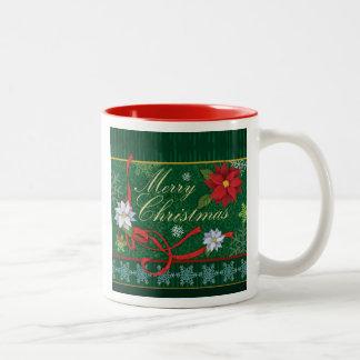 För helgdaggåva för god jul festlig mugg