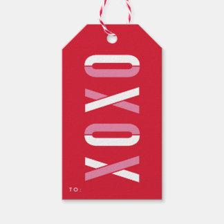 För helgdaggåva för XOXO   packe för märkre av Presentetikett
