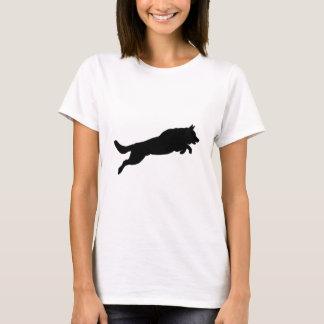 För herdeSilhouette för banhoppning tyska hundar T Shirt