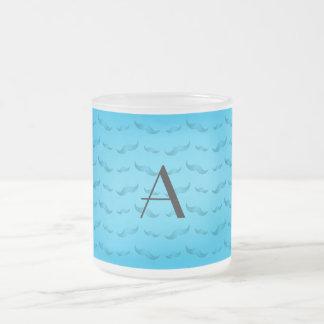 För himmelblått för Monogram skina mönster för mus Kaffe Mugg