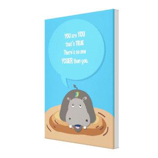 För Hippo_inspirational för djungel djur affisch Canvastryck