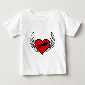 För hjärtakärlek för banhoppning tysk herde t shirts