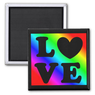 För hjärtakärlek för regnbåge LGBT magnet